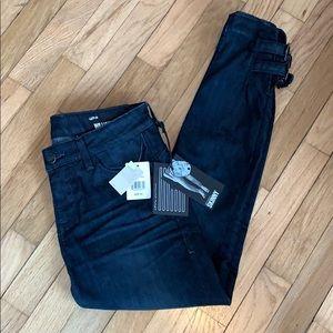 NWT William Rast Dark Wash Jeans w/ankle buckles